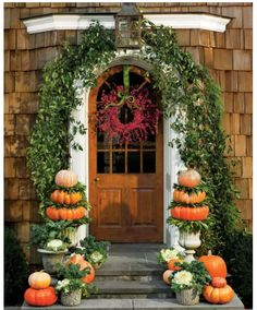 Image Via – Photography Helen Norman As a follow-up to our Fall Curb Appeal post yesterday, I wanted to offer a one of my favorite and easiest styling tips to give your homes a little charm this fall – a beautiful fall wreath. Putting a pretty wreath on your front door instantly adds to the …