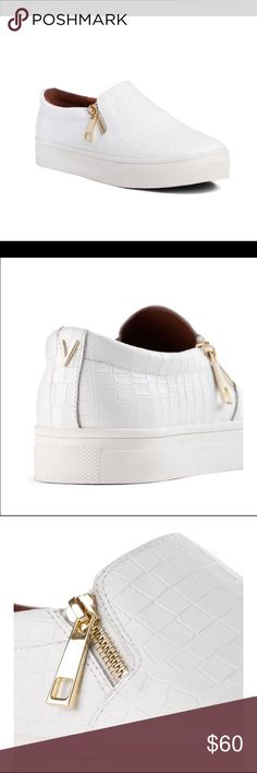 White snake sneakers with gold zippers Limited edition Brand new White fake snake skin sneakers with trendy gold details. From trendy Swedish brand Ivyrevel. Sadly, too big for me  Ivyrevel Shoes Sneakers
