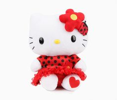 "Check out Hello Kitty 8"" Plush: Ladybug from Sanrio"