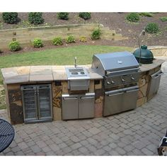 Nothing Says Man Cave like a good ol custom made BBQ !!!!!  Curved Custom Outdoor Kitchen C-01