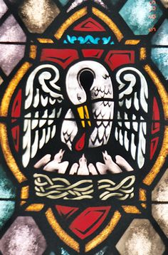 stained glass – Pelican in Piety