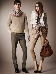 Burberry casual look--cute pants and I love the bag!