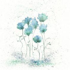 Inspired watercolor paintings by Kelly Bermudez...