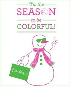 lilly pulitzer snowman, tis the season to be colorful
