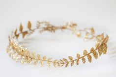 Homemade holiday crown tutorial — Gold Leaf Crown
