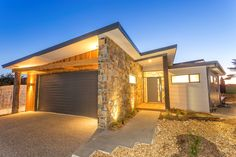 Pivot Homes - Geelong's Most Awarded Custom Home Builders Stone Cladding, Timber Cladding, Cladding Ideas, Cladding Materials, Gate House, Facade House, House Facades, Custom Home Builders, Custom Homes