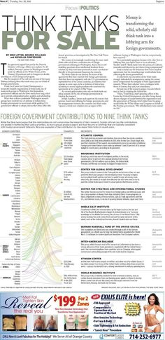 Think tanks for sale