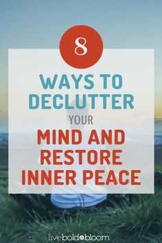 You may have a clean, clutter-free home or office, but have you taken the time to declutter your mind? If you regularly feel overwhelmed by your thoughts and struggle with stress and anxiety, it's past time to deal with the internal clutter that's causing Negative Thinking, Negative Thoughts, Declutter Your Mind, Loving Kindness Meditation, Free Your Mind, Finding Inner Peace, How To Improve Relationship, Paz Interior, Self Development
