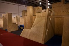 #parkour #gym #walls #ledges #vaults #bars #mats @apexmovement Parkour Equipment, Parkour Gym, Gymnastics Equipment, No Equipment Workout, Play Structures For Kids, House Of Tomorrow, Dream Home Gym, Garage Gym, Gym Design