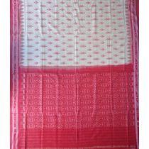 OSS134: Trisul design Sambalpuri Cotton Saree from India