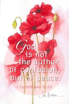 1 Corinthians God is not the author of confusion but of peace. Bible Verses Quotes, Bible Scriptures, Biblical Verses, Scripture Cards, This Is A Book, Favorite Bible Verses, Favorite Quotes, Christian Inspiration, Biblical Inspiration