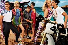 The new #JustCavalli SS 2013 Ad Campaign stars Aline Weber, Emily Di Donato, Ginta La Pina, Chris Bunn, Chris Petersen and Thomas Guarracino photographed by Giampaolo Sgura in #Ibiza.