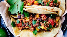 Tacos de quinoa a la mexicana