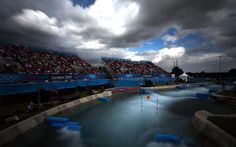 Misty waters: the Lee Valley White Water Centre where the canoe and kayaking events took place