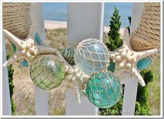Beachy wreath with glass floats: diy