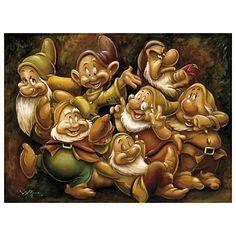 Disney Seven Dwarfs Giclée by Darren Wilson Darren Wilson, Wilson Art, Walt Disney, Disney Magic, Disney Cartoons, Disney Movies, Disney Characters, Disney Store, Disney Artwork