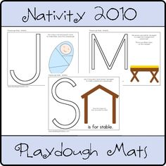 Nativity Playdough Mats idea, since the links are not working!