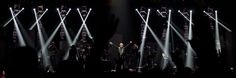 (Steve Griffin | The Salt Lake Tribune)  Jon Bon Jovi leads the way as Bon Jovi performed in concert at EnergySolutions Arena in Salt Lake City, Utah Wednesday April 17, 2013.