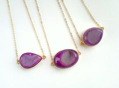 Druzy Necklace Druzy Pendant Bright Purple Druzy by SinusFinnicus