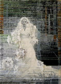 Dutch artist Hinke Schreuders creates embroidered works that run the gamut from sinister to playful. Stitching directly on photographs and illustrations, Schreuders creates entirely new artworks by shifting the emphasis and adding pops of color or whole n Thread Art, Thread Painting, Textile Fiber Art, Textile Artists, Illustrations, Illustration Art, Stitching On Paper, Collage Techniques, Dutch Artists