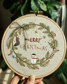Your place to buy and sell all things handmade Christmas Embroidery Patterns, Embroidery Patterns Free, Modern Embroidery, Embroidery Hoop Art, Cross Stitch Embroidery, Hand Embroidery Designs, Bone Bordado, Hand Embroidery Tutorial, Couture