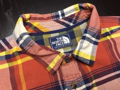 THE NORTH FACE Men's L Orange Yellow Blue Plaid Oxford Long Sleeve Casual Shirt #TheNorthFace | Men's Fashion & Style | Shop Menswear, Men's Clothes, Men's Apparel & Accessories at designerclothingf... | Find Sport Coats, Blazers, Suits, Shirts, Polos, Pants/Trousers and More...