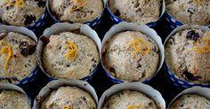 Muffins véganes aux canneberges et à l'orange