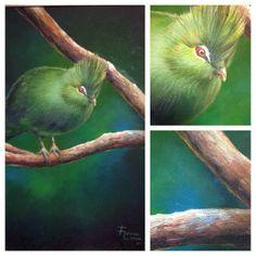 """Vai!"" #oleosobretela #oiloncanvas #bird #green #pintura n#painting #flavialima"
