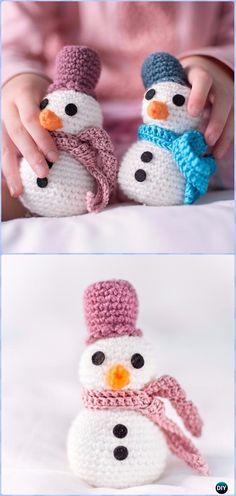 Crochet A Snowman Amigurumi Free Pattern - Amigurumi Crochet Snowman Stuffies Toys Free Patterns