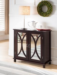 Espresso Console Table With Drawers