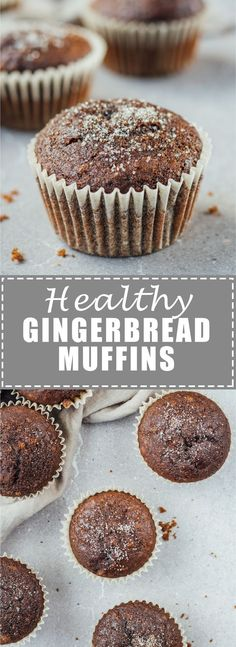 These healthy gingerbread muffins are easy to make and so delicious! Perfect for the winter season!