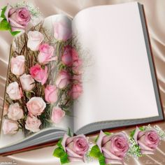 In♡Memory ~ Forever Written Pages Within My Heart ♡ ~ * ~ Treasured ☆ Keepsake ☆ Memories ~ * ~ Pink Glitter Background, Old Paper Background, Flower Background Wallpaper, Frame Background, Flower Backgrounds, Flower Graphic Design, Book And Frame, Photo Frame Design, Happy Birthday Flower