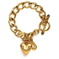 JUICY COUTURE STARTER HEART CHARM BRACELET  For more info: http://stuffwomenlikes.com/?p=71