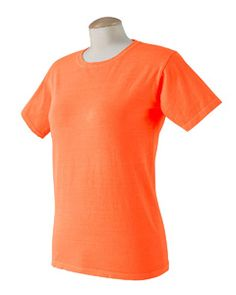 Authentic Pigment Ladies' Ringspun T-Shirt Neon orange.   I should probably buy them while these colors are popular.