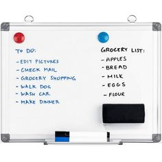 36 x 24 Magnetic Whiteboard Bundle Check Mail, Magnetic Whiteboard, Grocery Lists, Editing Pictures, Cool Stuff, Amazon, Glass, How To Make, Top