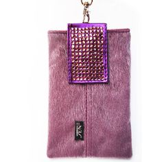 Handmade Purple Fur Cell Phone Pouch  Grade A by UFindings on Etsy, $15.99