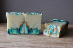Ice Queen - cold process soap swirl