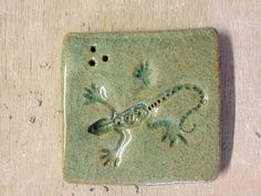 Lizard tile Empty, Nest, Tile, Pottery, Ceramics, Texture, Handmade, Gifts, Inspiration
