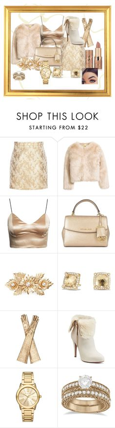 """Inspired by Amber Scholl"" by calahmccombs on Polyvore featuring Michael Kors, MICHAEL Michael Kors, Cara, David Yurman, Gucci, Jennifer Lopez, Allurez and tarte"