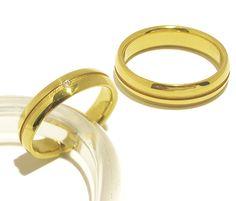 Trauringe / Eheringe aus 585er Gelbgold