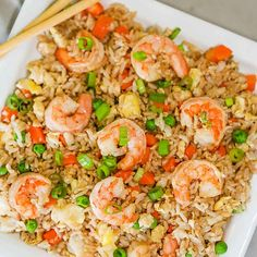Skip takeout and make this delicious Shrimp Fried Rice Recipe at home in minutes. The shrimp and veggies have the best flavor to make the perfect meal. Stir Fried Rice Recipe, Shrimp And Rice Recipes, Shrimp Fried Rice, Shrimp Recipes For Dinner, Fast Dinner Recipes, Seafood Recipes, Pasta Recipes, Casserole Recipes, Veggie Stir Fry