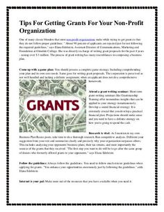 Tips for getting grants for your non profit organization Grant Proposal Writing, Grant Writing, Fundraising Activities, Nonprofit Fundraising, Non Profit Fundraising Ideas, Start A Non Profit, Foundation Grants, Show Me The Money, Organization