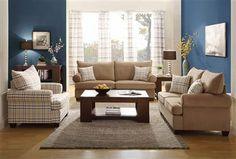 Talullah Transitional Brown Microfiber Living Room Set