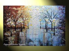 Resultado de imagem para city after the rain painting