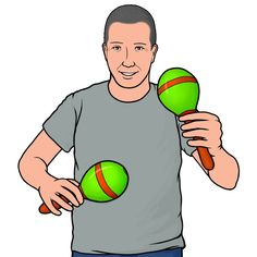 Playing the Maracas Free Illustrations, Percussion, Picture Sizes, Musical Instruments, Musicals, American, Salsa, Books, Fictional Characters