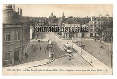 Calais vintage postcard La Rue Royale prise door vintagepostoffice