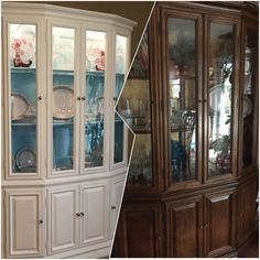 Ethan Allen China Cabinet Repainted Refurbished