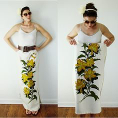 Vintage 1950s RARE Alfred Shaheen Hand Printed Lilly Skirt by MyGrayCatVintage, $72.00