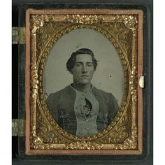 """Unidentified soldier of the 34th Indiana Infantry Regiment in zouave uniform; ninth-plate tintype, hand-colored. The 34th Indiana Zouaves were also known as the """"Morton Rifles."""" The Liljenquist Family Collection; the Library of Congress."""