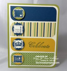 SU! : Pretty Petites, A Fitting Occasion and Feeling Sentimental stamp sets; colors are Lucky Limeade, Very Vanilla, Midnight Muse, Summer Starfruit - Mary Jo Price-Williams